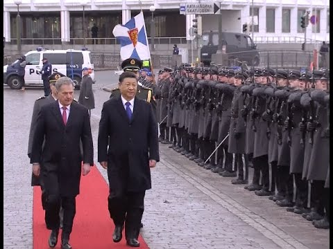 Finland Holds Welcome Ceremony for Visiting Chinese President