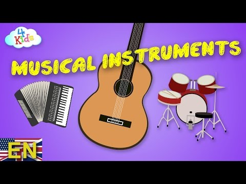 Musical Instruments by Names and Sounds Learning Video for Children and toddlers