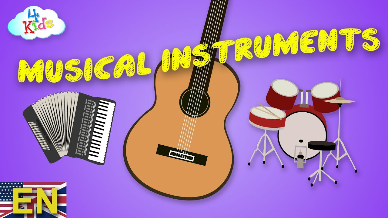 Musical Instruments by Names and Sounds Learning Video for