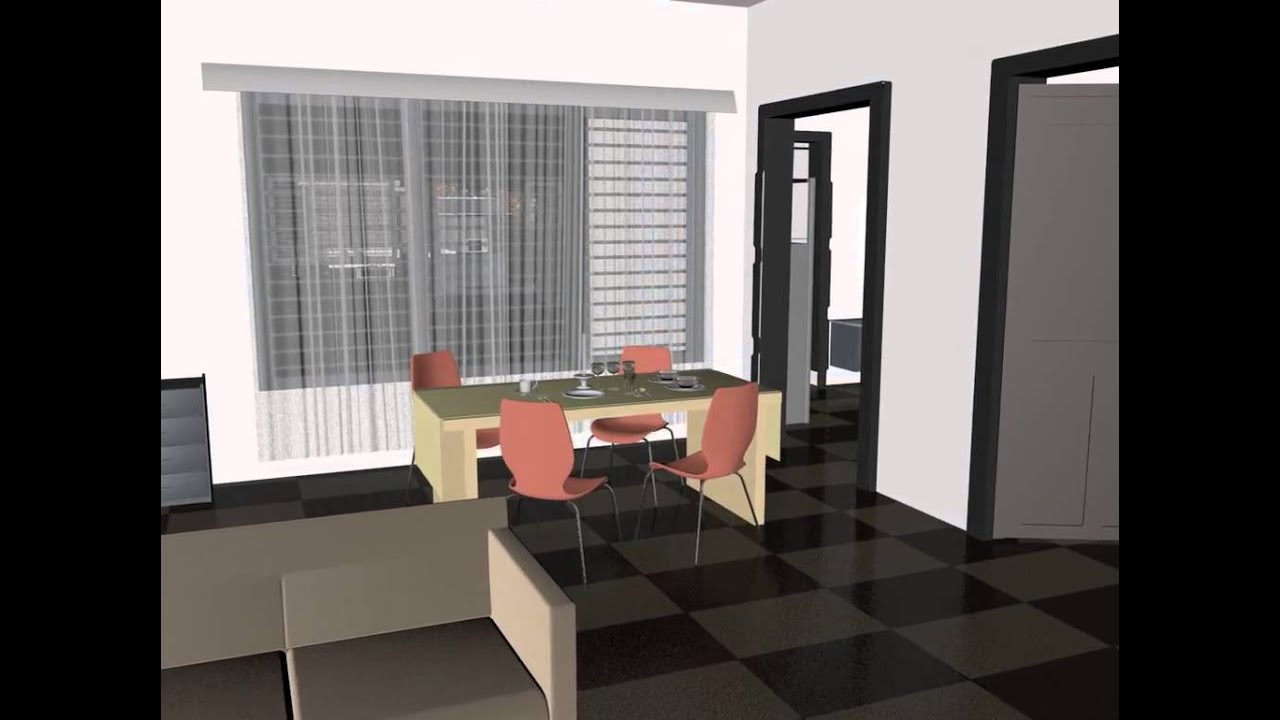 East facing 3d walk through youtube for Singlex house design