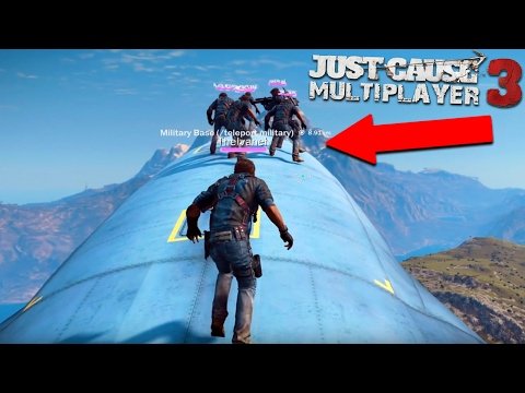 Just Cause 3 Multiplayer: INSANE CARGO PLANE JOUSTING (Just Cause 3)