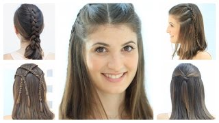 Repeat youtube video 5 Hairstyles for short hair