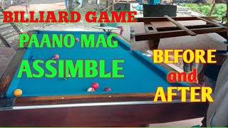 How to install billiard game{visaya and tagalog vlog}