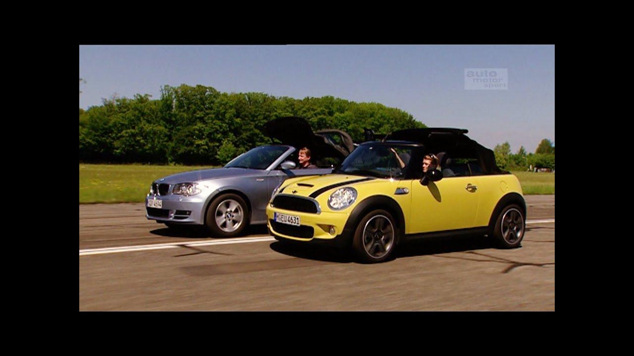 BMW 1er Cabrio gegen Mini Cabrio (aus dem Archiv) - Throwback Thursday | auto motor und sport