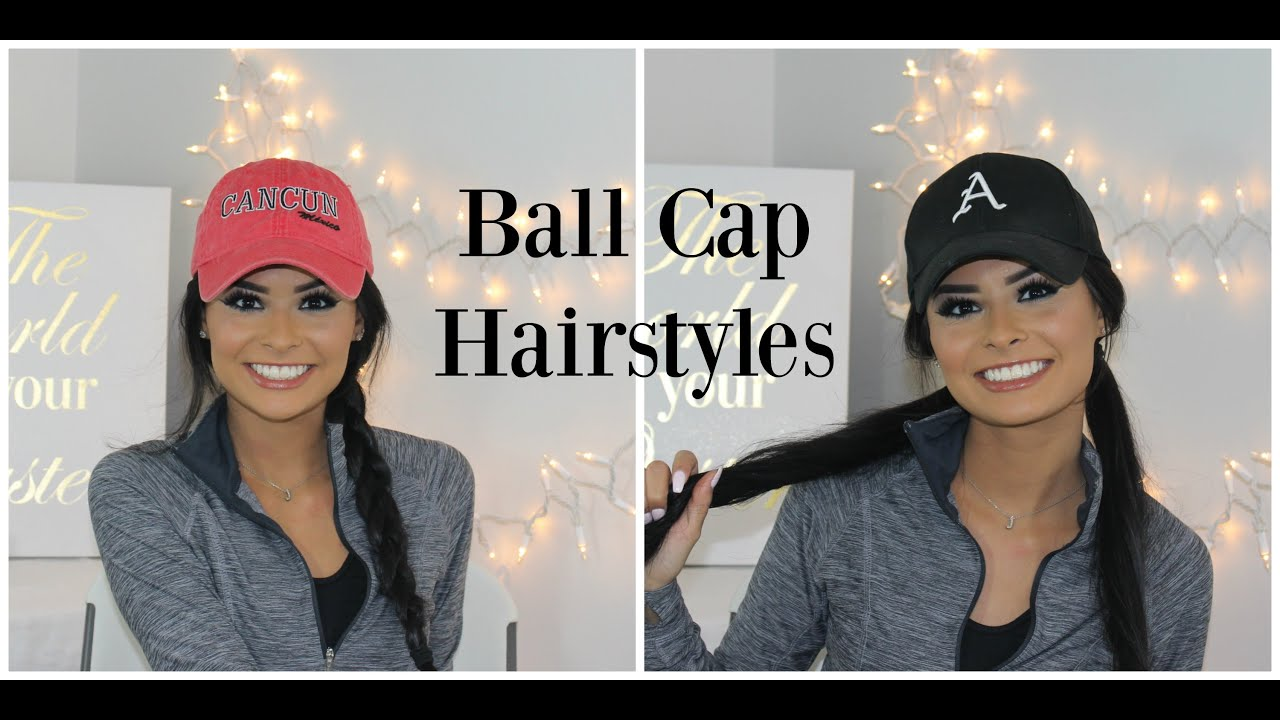 ball cap hairstyles | madison danielle - youtube