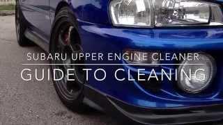 Subaru Upper Engine Cleaner Tutorial Help WRX GC8 Keep Engine Internals Clean