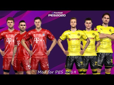 BAYERN MUNICH vs BORUSSIA DORTMUND | PES 2019 Gameplay 2020