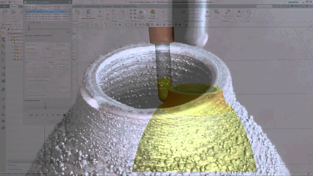 NX CAM Hybrid Additive Manufacturing