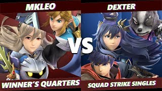 Glitch 6 SSBU - FOX MVG | MKLeo VS Dexter - Smash Ultimate Squad Strike Winner's Quarters