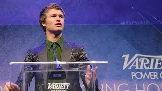 Ansel Elgort calls out Sophie Turner in Power of Young Hollywood Speech