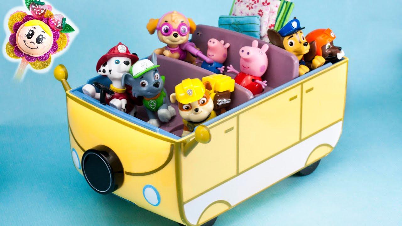 La patrulla canina y peppa pig aver a en la autocaravana for Autocaravana playmobil