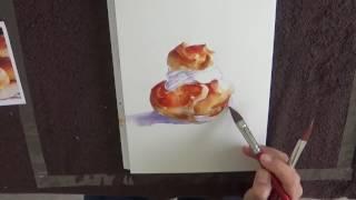 "Catherine Rey - Démo aquarelle- ""chou"""