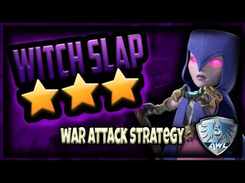 The Best War Attack TH9 | How to Witch Slap | Clash of Clans | TH9 3 Star Strategy Walkthrough | AWL