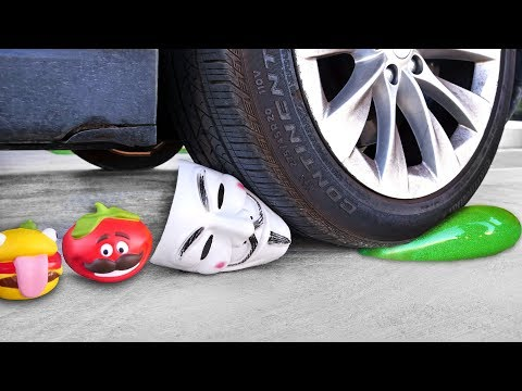 Crushing Crunchy & Soft Things by Car! EXPERIMENT: CAR VS TOOTHPASTE, Squishy, Fruit, Hackers & more