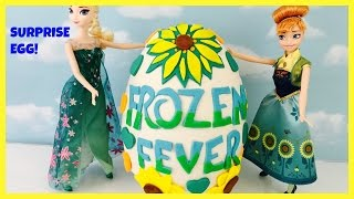 Giant Disney Frozen Fever Play Doh and Surprise Egg Full of Blind Bags Surprise Eggs