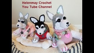 Crochet Small Amigurumi Siberian Husky Dog Part 1 of 2 DIY Video Tutorial