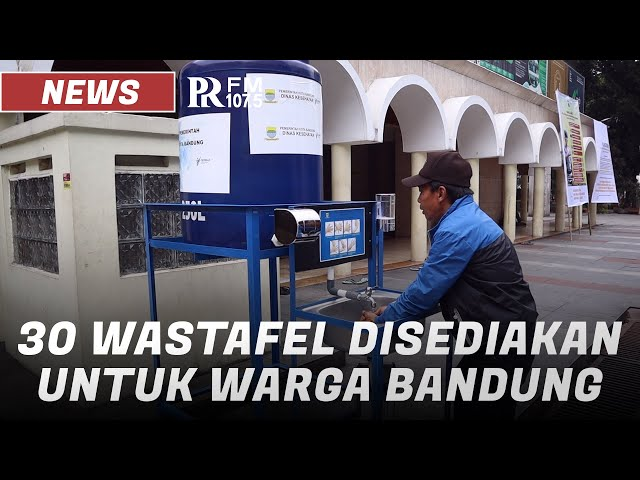 Pemkot Bandung Siapkan Wastafel di 30 Titik Ruang Publik