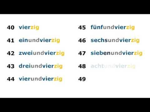 2 zahlen lernen und h ren deutsch lernen learn german numbers youtube. Black Bedroom Furniture Sets. Home Design Ideas