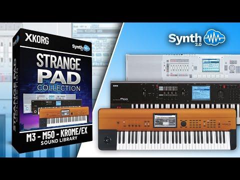 Strange Pads Collection Sound Bank On Korg M3 M50 Krome Ex Youtube