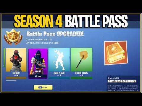 *NEW* Fortnite: SEASON 4 BATTLE PASS INFORMATION AND LEAKS! | (New Theme, Items and More!)