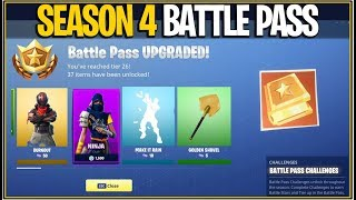 *NEW* Fortnite: SEASON 4 BATTLE PASS INFORMATION AND LEAKS! | (New Theme, Items and More!) thumbnail