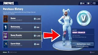 HOW TO REFUND YOUR ITEMS IN FORTNITE FOR V-BUCKS! (FORTNITE REFUND SYSTEM)