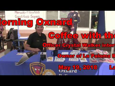 180519 GMO Coffee with the Police - Carmen owner of La Paloma Restaurant