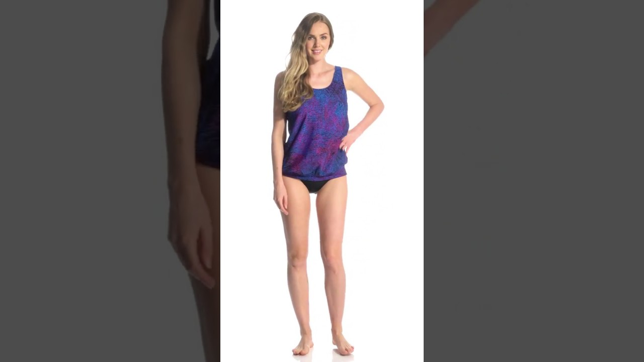 66e869d762 Speedo Women's Blouson Tankini Top | SwimOutlet.com - YouTube