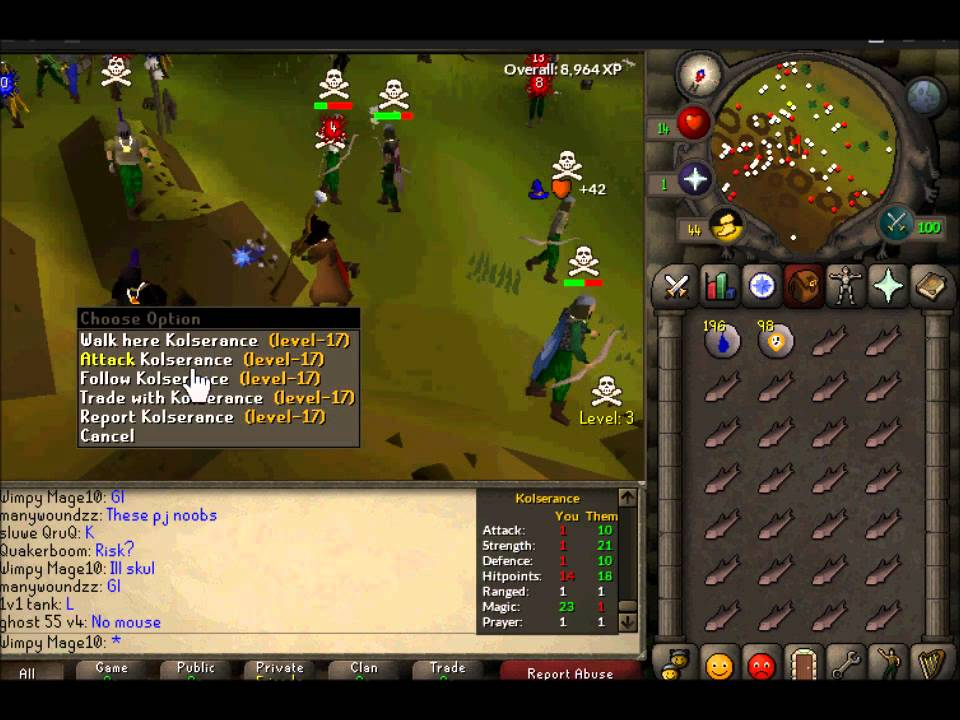 OSRS F2p mage Pking!
