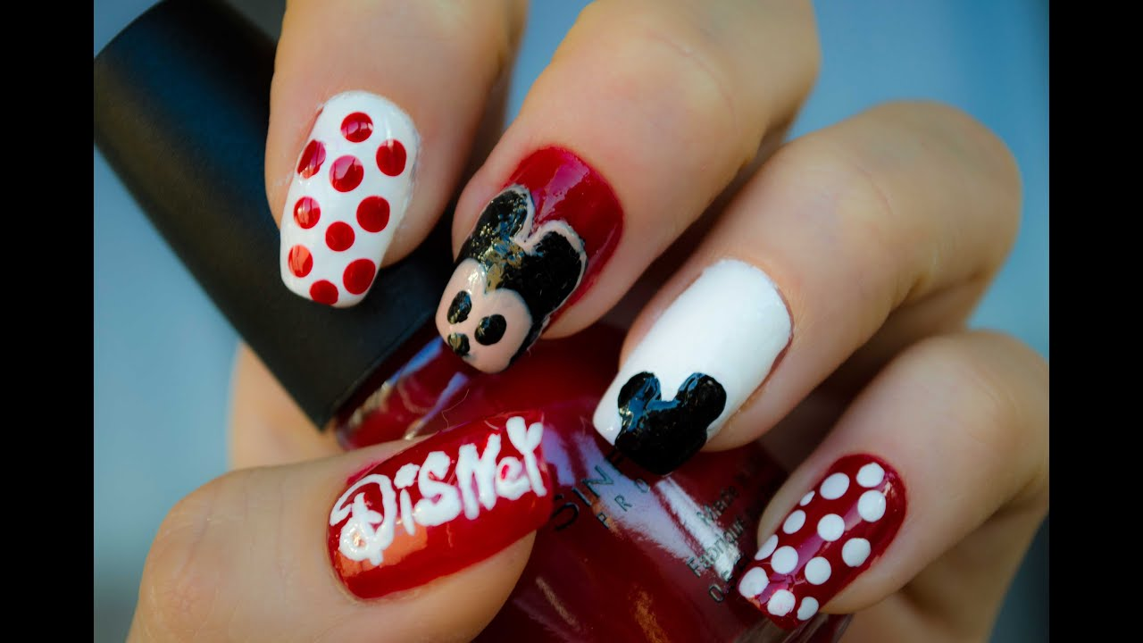2015 mickey mouse disney manicure. Black Bedroom Furniture Sets. Home Design Ideas