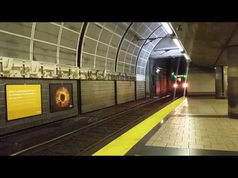 MBTA: Green Line Train arriving at North Station