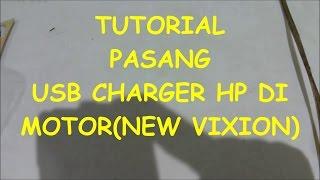 tutorial pasang usb charger hp di motor universal