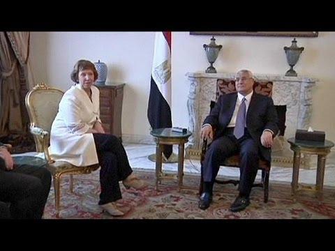 """EU's Ashton in Cairo calls for """"inclusive"""" transition process"""