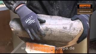 Freihand-Fraesen eines Brotkorbes mit den Arbortech TURBOPlane Fraesscheiben