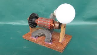 How to make simple electric motor generator - Science project DC motor at school