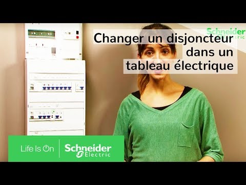 comment installer un disjoncteur dans un tableau lectrique schneider electric youtube. Black Bedroom Furniture Sets. Home Design Ideas
