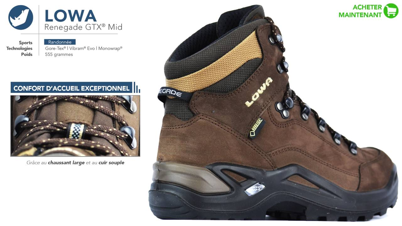 uk availability official site various colors Lowa - Renegade GTX® Mid | Chaussures de randonnée | Homme