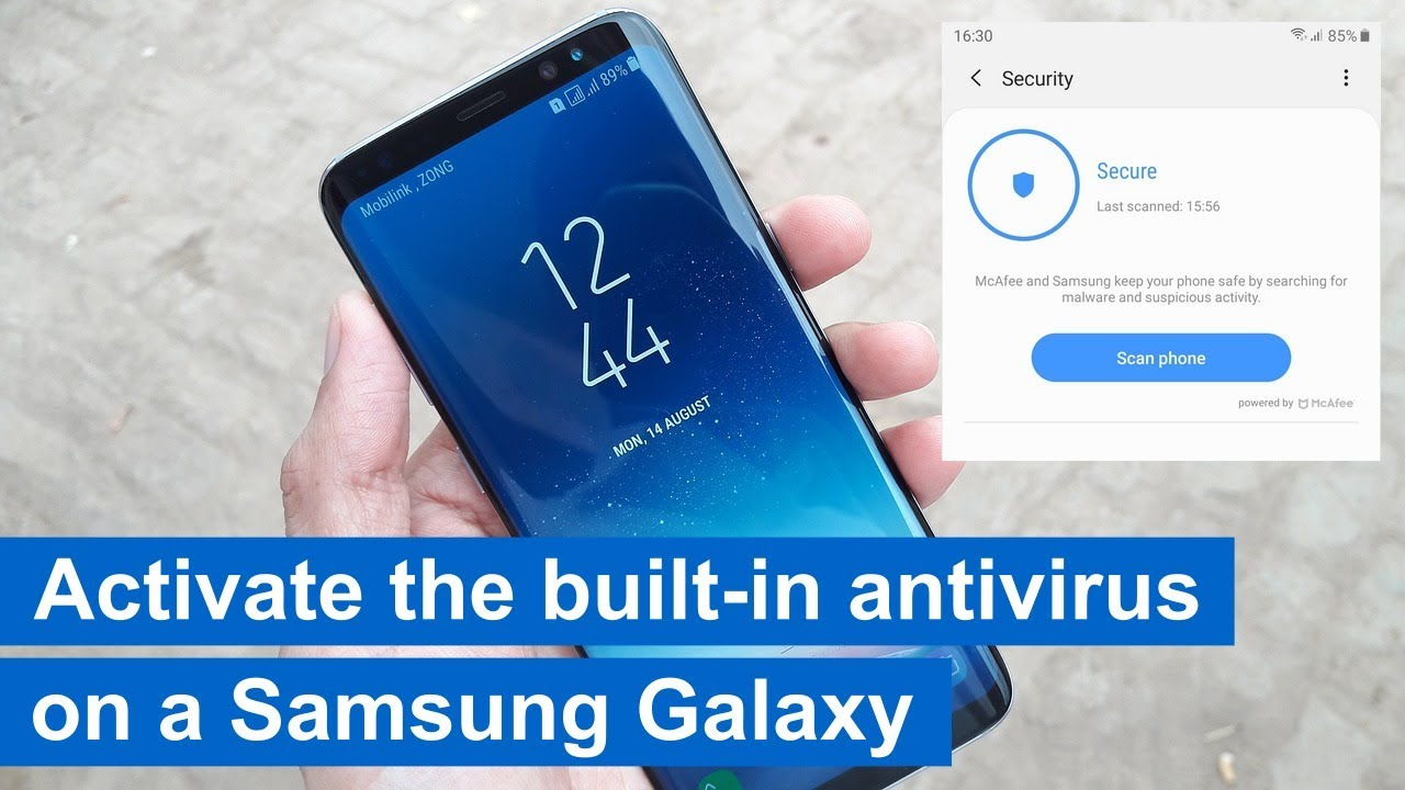 How To Activate The Built In Antivirus On A Samsung Phone Android 7 8 9 10 Youtube
