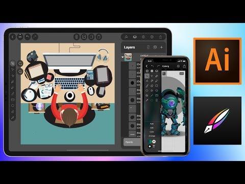 Import Illustrator CC Projects (Ai) On IPad Pro & IPhone