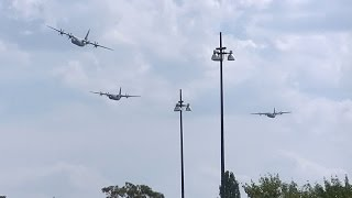 Raaf C-130 Hercules Tactical Training Exercise - Flying Low Over Canberra