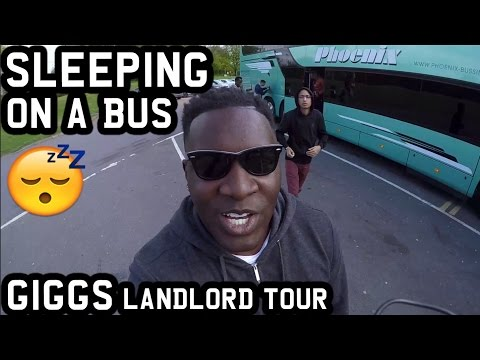 SLEEPING ON A BUS! *GIGGS LANDLORD TOUR BRISTOL*