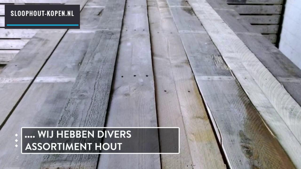 Verwonderend Sloophout kopen planken aanbieding actie dichtbij rotterdam YA-84