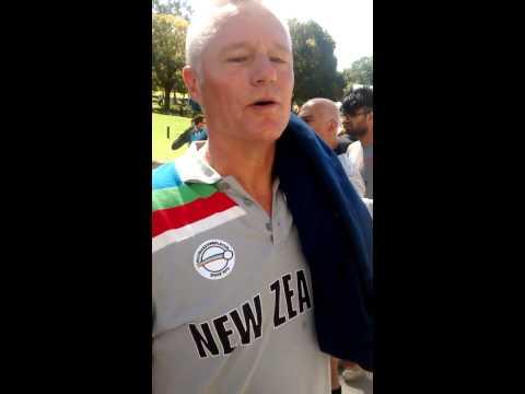 Gavin Larsen wishes New Zealand luck