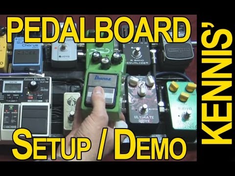 Kennis' Pedalboard Setup / Demo - Some Cheap, Some Expensive Pedals