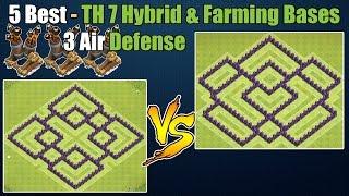 Clash of Clans - Top 5 Best Town hall 7 (Th7) Farming Base & Hybrid Base ANTi Dragon 3 Air Defenses