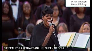 Fantasia Sings at Aretha Franklin's Funeral