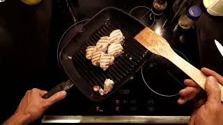 Как жарить мясо на сковороде гриль.