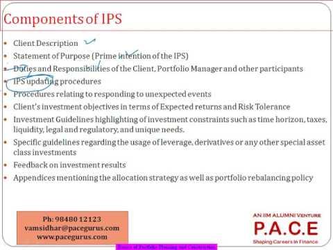 Basics of Portfolio Planning Construction