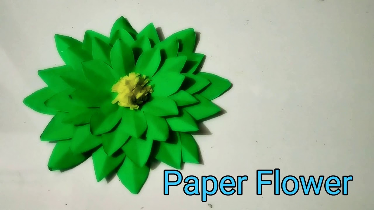 How To Make Paper Flowers For Home Decoration Best Flower Design