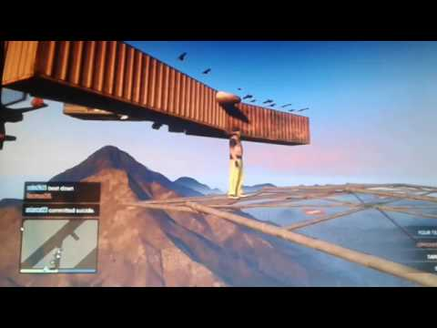 Gta5 parkour with my crew members and a message to the mp3 crew